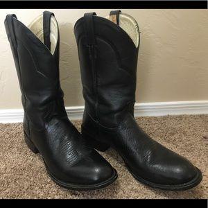 Tony Lama women's cowboy boots black size 10 1/2